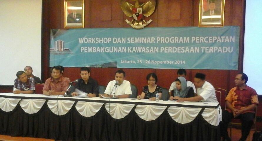 Gedhe Ikuti Workshop Percepatan Pembangunan Kawasan Perdesaan