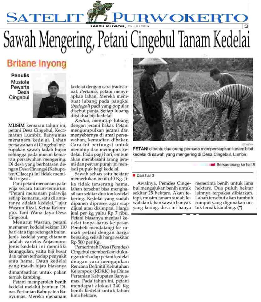 Pengarusutamaan Isu Desa di Media Cetak