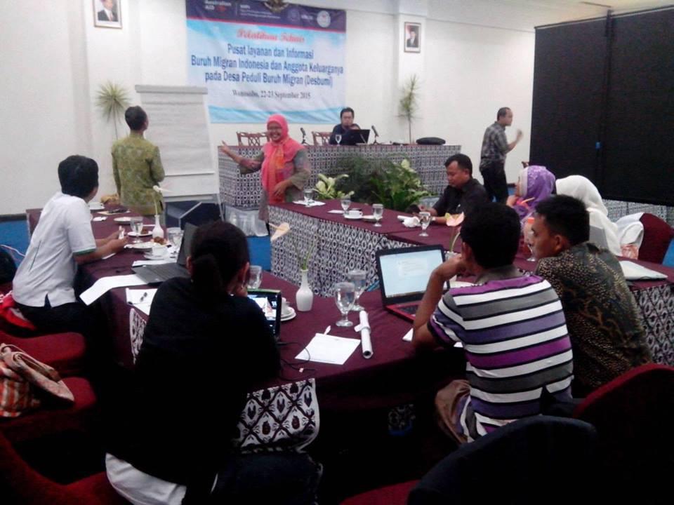 Gedhe Fasilitasi Pelatihan Web Desa Peduli Buruh Migran di Wonosobo