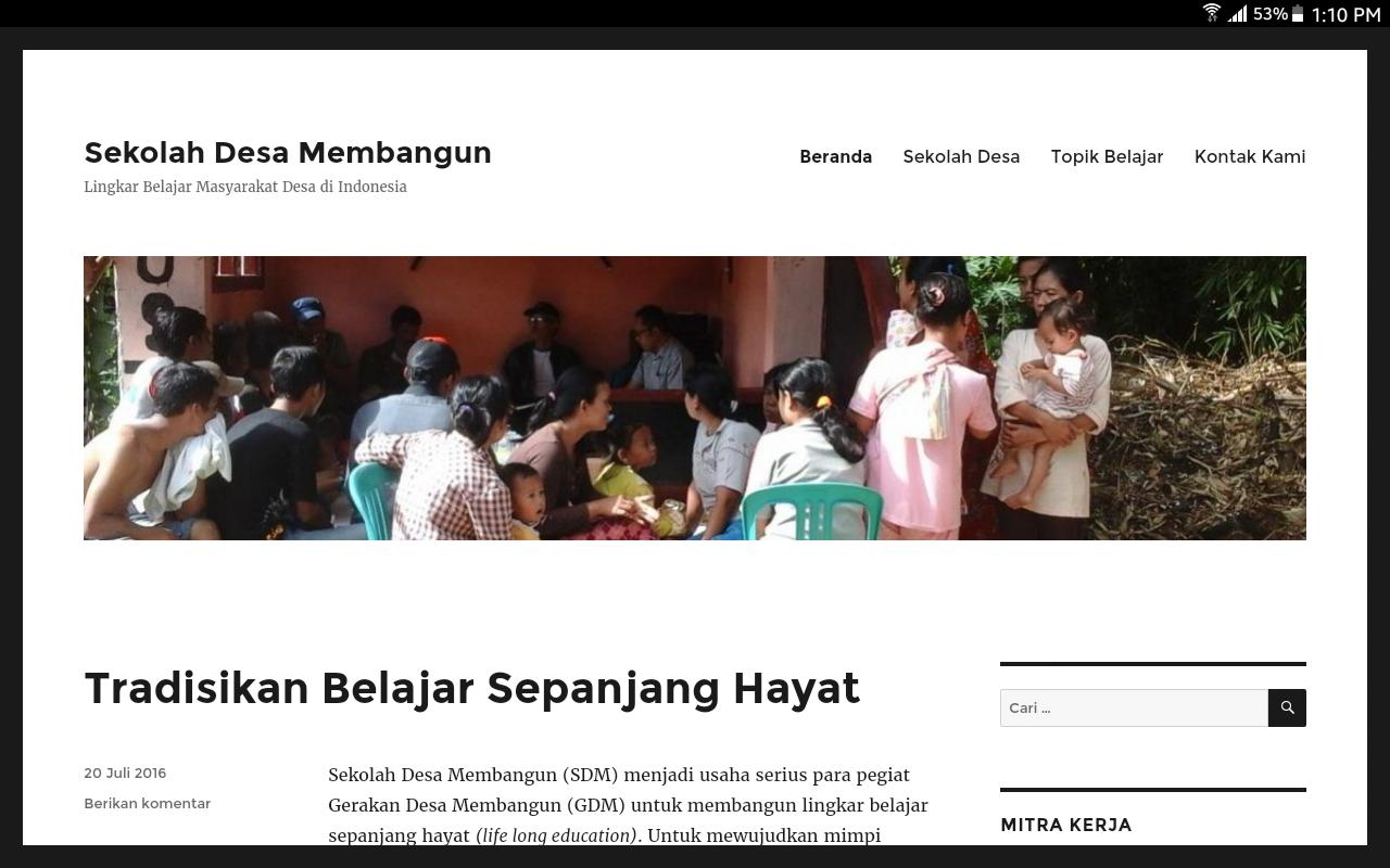 Gedhe Kembangkan Layanan Belajar Online untuk Sekolah Desa Membangun