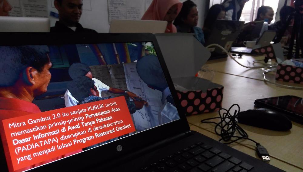 Gedhe Fasilitasi Pelatihan Mitra Gambut 2.0